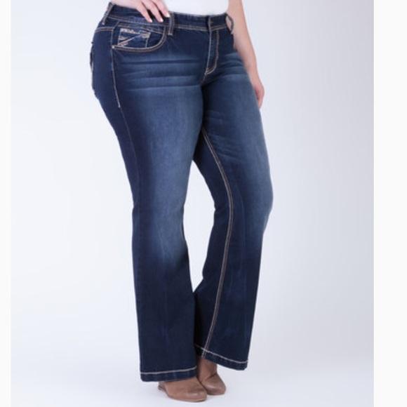 Flare Women Plus Ariya Jeans Size b7gYf6vy